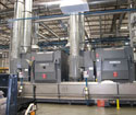 Aramark facility installation. URE provided the installation services to place all machinery in the new building.
